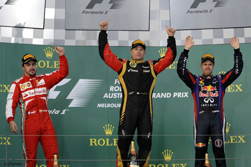 Podium Grand Prix F1 Australie 2013