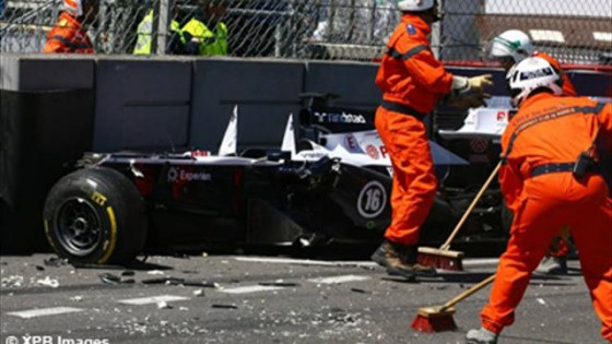 GP de Monaco  2013 - accident Maldonado