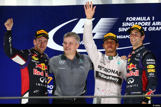 podium GP Singapour 2014