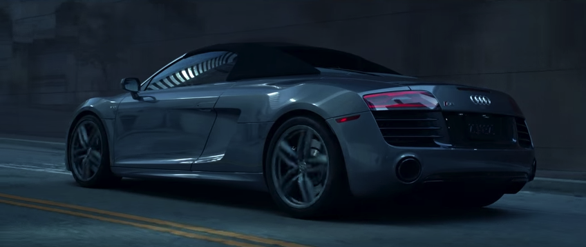 Audi r8 spyder star du film 50 nuances de grey auto for Chambre 50 nuances de grey