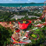 Le nouveau parc d' attractions Ferrari Land demarre sa construction