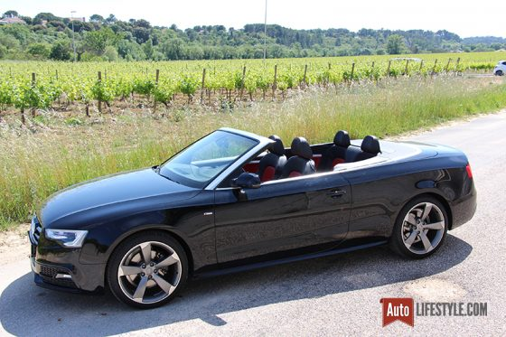 essai occasion audi a5 cabriolet 1 8 tfsi 170 ch s line auto. Black Bedroom Furniture Sets. Home Design Ideas