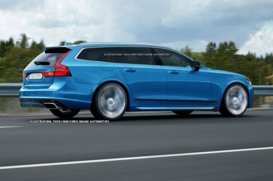 Volvo V90 Polestar illustration