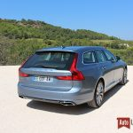 Volvo V90 D4 190 ch Geartronic8 Inscription Bleu Baltique / cuir Nappa Beige