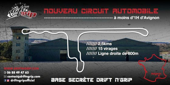 Drift N'Grip projet circuit automobile Lubéron