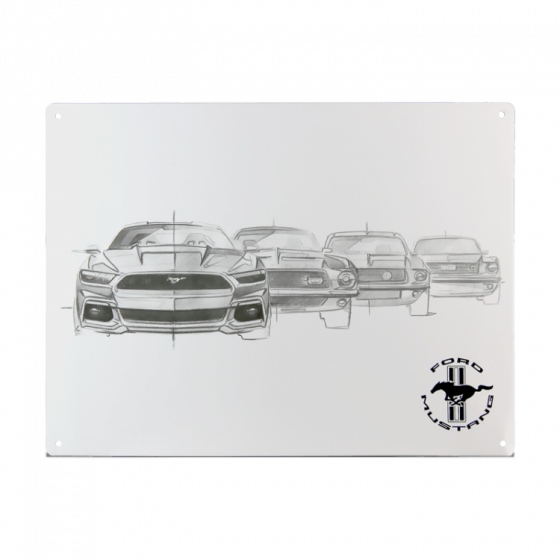 plaque décorative Ford Mustang